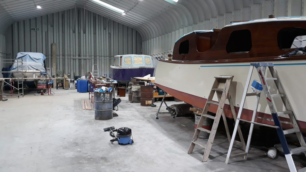 Under cover storage available at Wayford Marine, Norfolk Broads